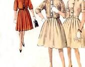 Vintage 1960s Dress Pattern - Simplicity 4565 - Full Pleated Skirt - Kimono Sleeve Jacket - Size 14