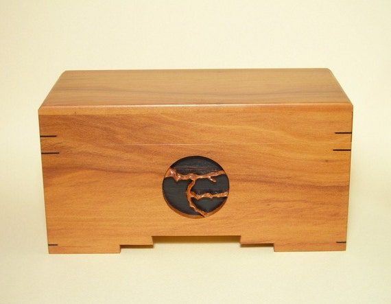 Jewelry Box Handmade Collectible Brazilian Pink Peroba Wood