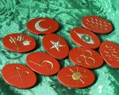 Painted Golden Gypsy Runes