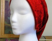 Red Velvet Stretch Modest Snood