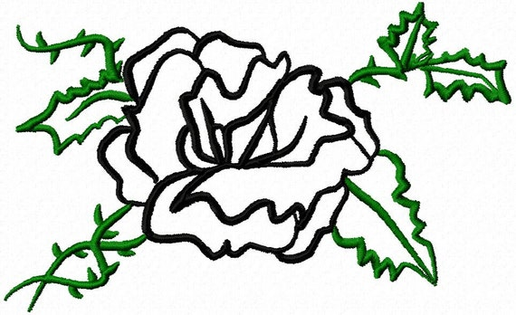 Applique Machine Embroidery Design from Letzrock  2421 for the 4 x 4 hoop
