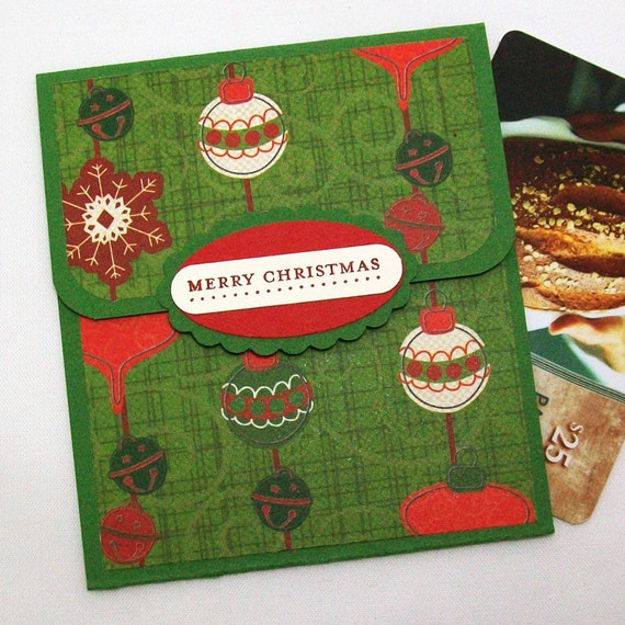 Christmas gift card holder ornaments by