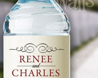 Personalized water bottle labels – Etsy