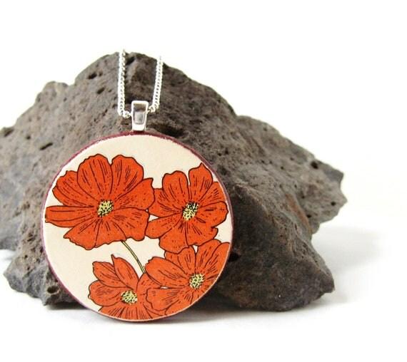 SALE. Rustic Autumn Flower Necklace