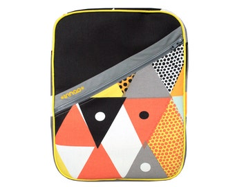 Lemon Orange Grapefruit Triangles Cotton / Vinyl Backpack