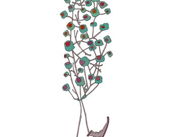 Olive Tree with Boots, 8.5x11 signed print