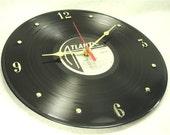 AC/DC Back In Black - Recycled Record Clock
