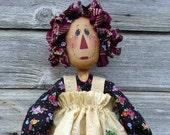 CF167 Posie Ann - PDF ePattern Cloth Doll Pattern, Raggedy