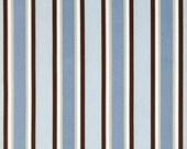 Bridesmaid Clutch/ SALE /Fold Over Envelope Clutch/Premier Prints - Morgan Stripe Mist(Blue, Brown, Putty) /Bridesmaid Gift