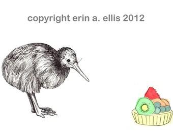 Kiwi Bird 5x7 Print