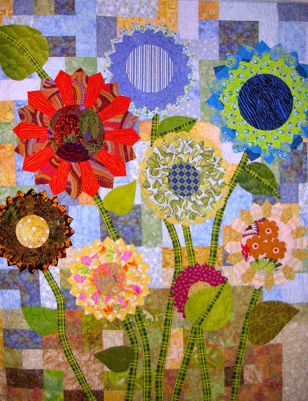 Modern Floral Applique Art Quilt Reserve For Dda 1116 Debi