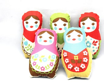 Ornaments - Refreshing Christmas Classic Stuffed Matryoshka Dolls -Choose ONE