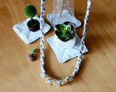 Nautical Braided Rope Necklace with Multiple Beads