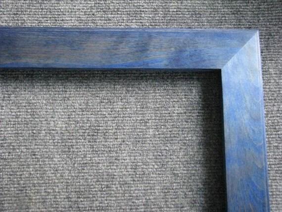 8x28 Yellow Birch blue dye Picture Frame