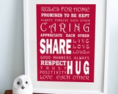 Rules for home bus print