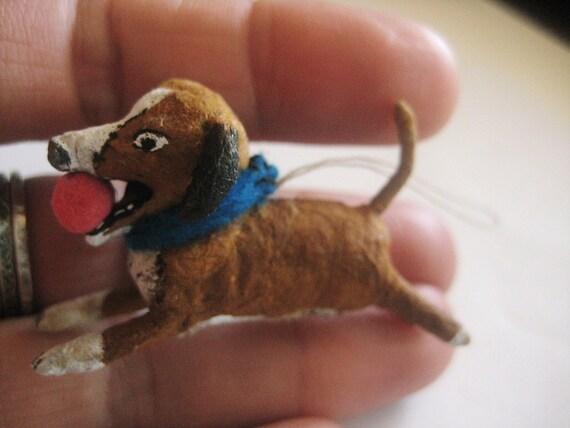 Spun Cotton Dog ornament Maria Pahls