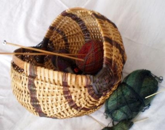 Handwoven Scottish Knitting Basket - Ready to Ship