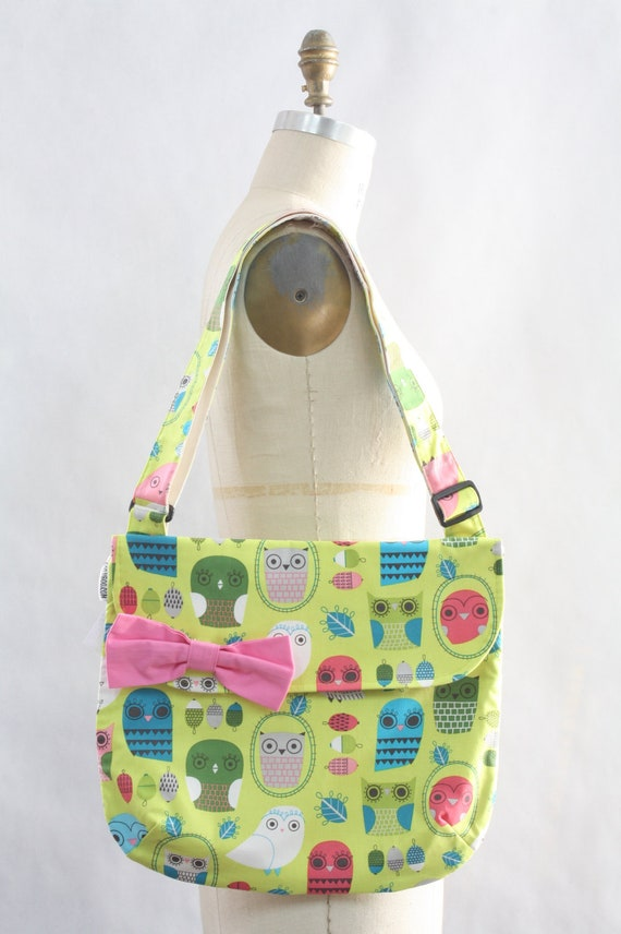 Messenger Bag Bright Owls Cross Body Bag Purse