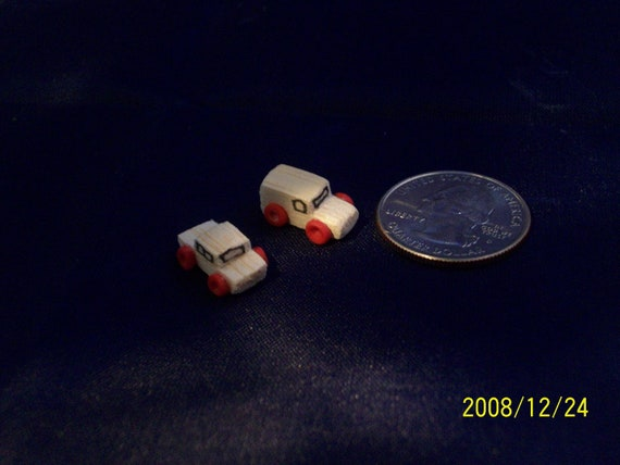 miniature wood toy trucks