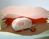letterpress tag a long camper DIY 3D card