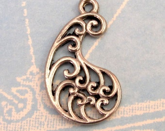 Paisley Pendant, Antique Pewter AP73