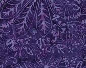 TT Batik Tonga Confetti Plum Fabric 1 Yard c9392
