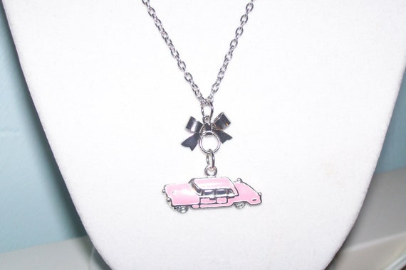 Pink Cadillac Car Necklace