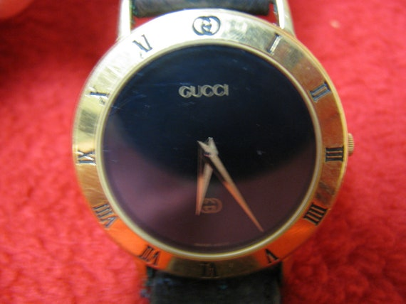 Vintage Mens Gucci Watch, 3000M, Mens Jewelry