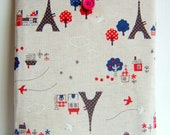 Ipad cover cozy sleeve padded japanese eiffel tower fabric fits all ipad 1 2 3 4