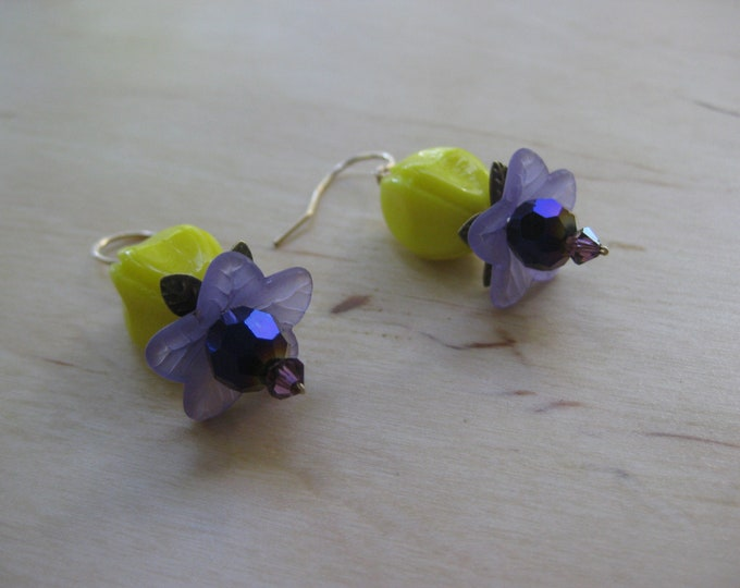 Insouciant Studios Purple Passion Flower Earrings