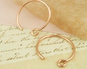 14 Gauge 14kt Rose Gold Filled Earring Hoops - 25mm