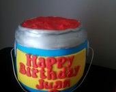 3D Paint Can Fondant  Cake Topper