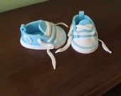 1 Pair of 3D Fondant Baby Converse Shoes Cake Topper