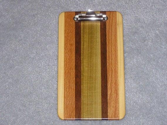 Memo Sized Wood Clipboard