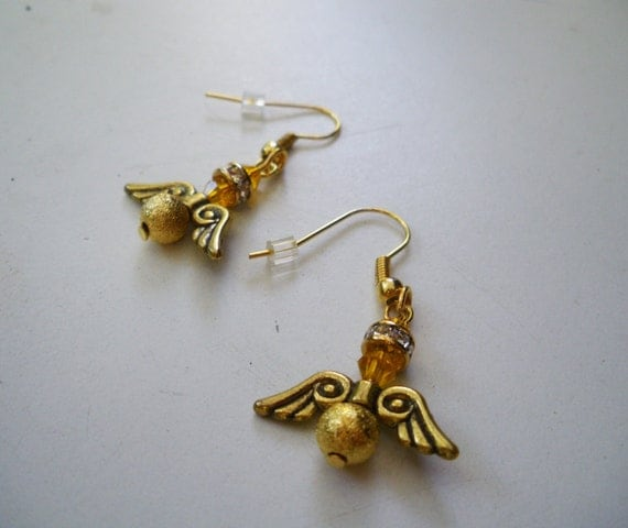 golden snitch earrings items similar to golden snitch earrings model3 on etsy 5045