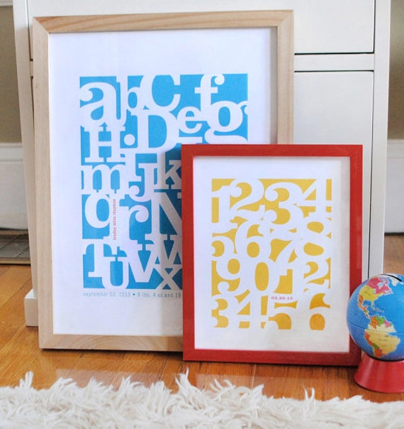 Alphabet print and Number print SET, CUSTOM, LARGE