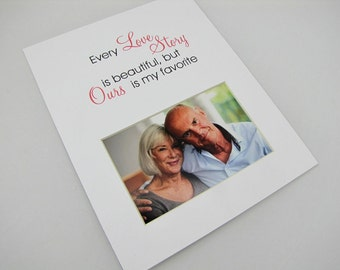 Every Love Story 8 x 10 Picture Frame Photo Mat Design M66
