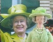Queen Elizabeth ll Historical Doll Miniature Art Collectible