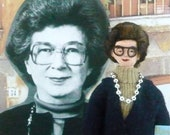 Beverly Cleary Doll Miniature Author and Writer Art Collectible