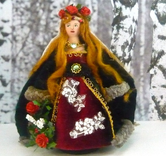 Winter Bride Medieval Doll Miniature HIstorical Art Collectible