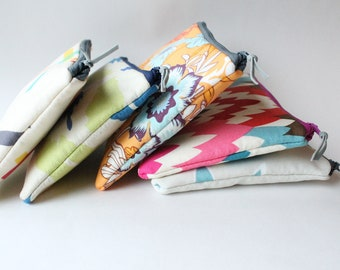 Zipper Pouch Set in Your Choice of Colors, Personalized Bridesmaid Gifts, Teacher Presents