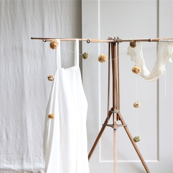Vintage Collapsible Drying Rack / Tripod, Laundry Rack