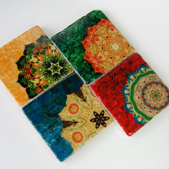 Rich Color stone coasters (set of 4) -