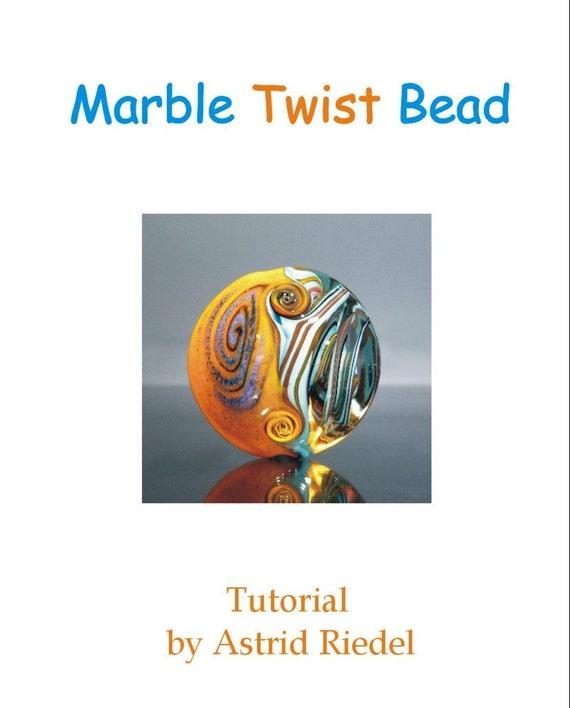 Marble Twist Bead - Tutorial - English/Deutsch