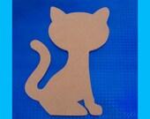Sitting Cat Unfinished Mosaic Base 1/2 Inch