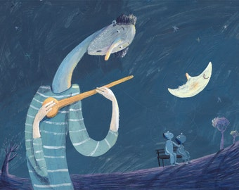music of the moon original illustration
