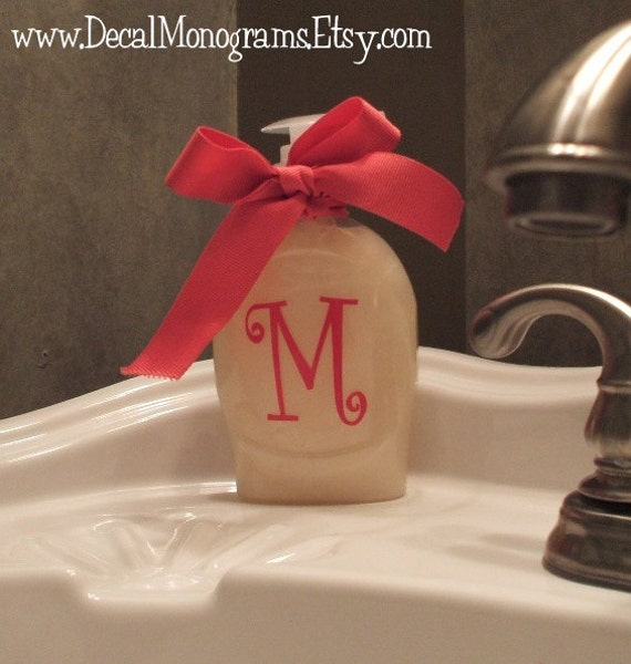 Set of two 2 inch Personalized Single Initial Vinyl Decal