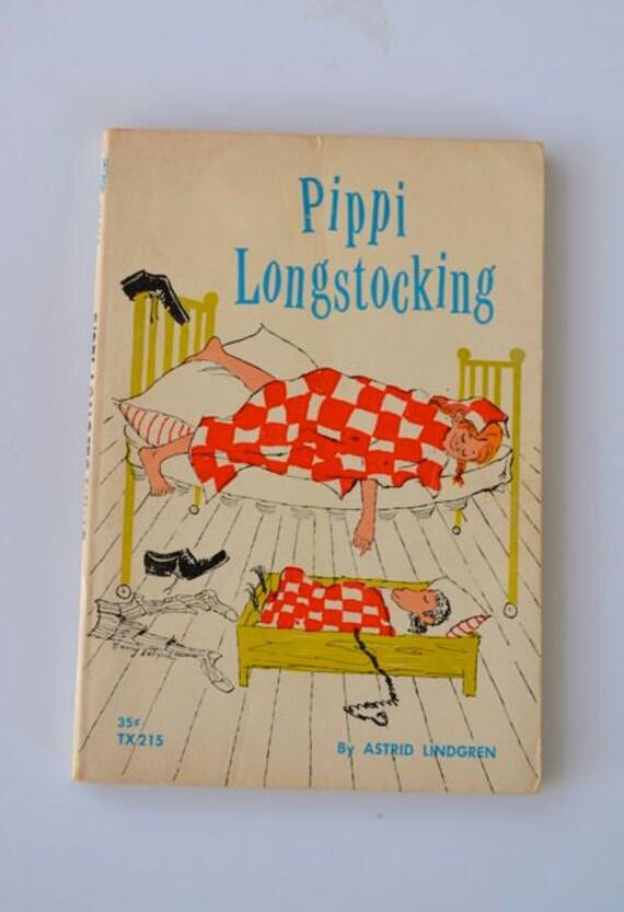 Vintage Chapter Book- Pippi Longstocking by Astrid Lindgren 1966