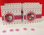 Moose Christmas Note Cards set of 5 envelopes included