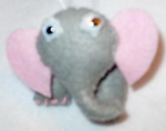 Miniature Felt Elephant Ornament